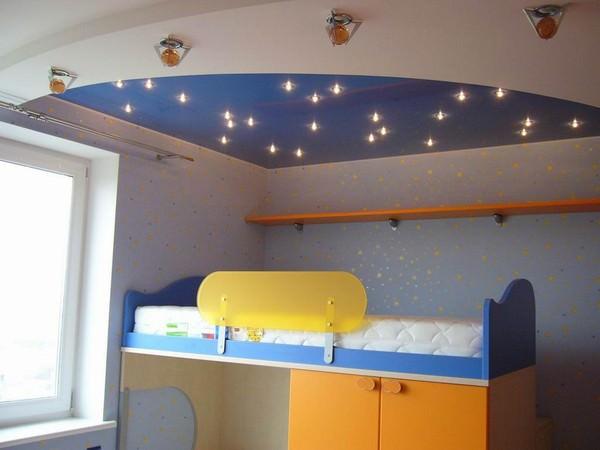 потолок для детской комнаты гипсокартон фото