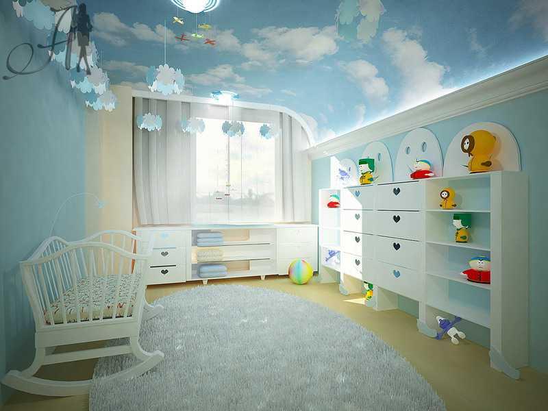 натяжной потолок небо с облаками фото