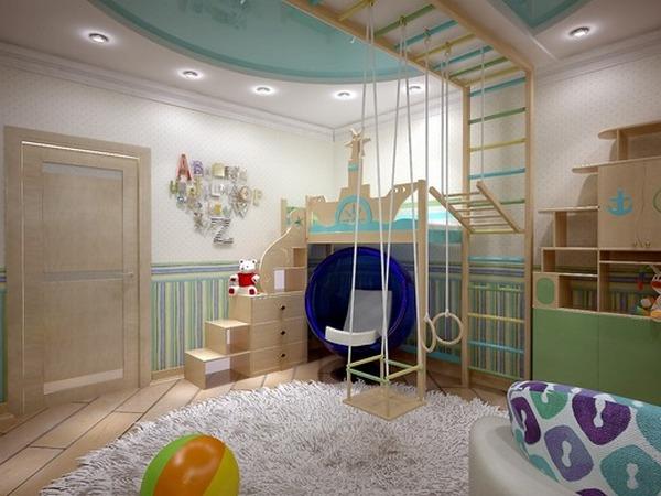 потолок в детскую с подсветкой фото
