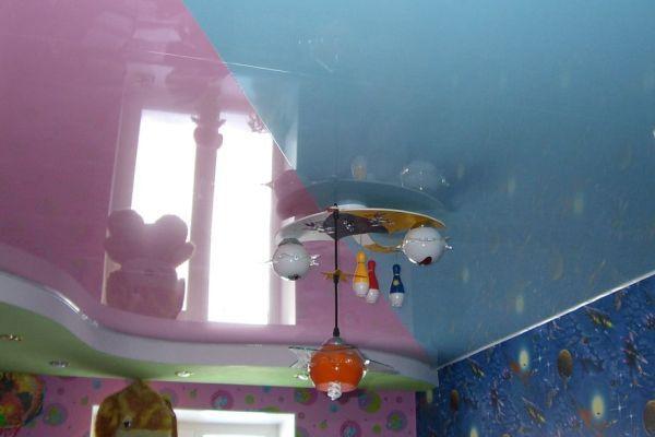 натяжные потолки в детскую комнату для мальчика