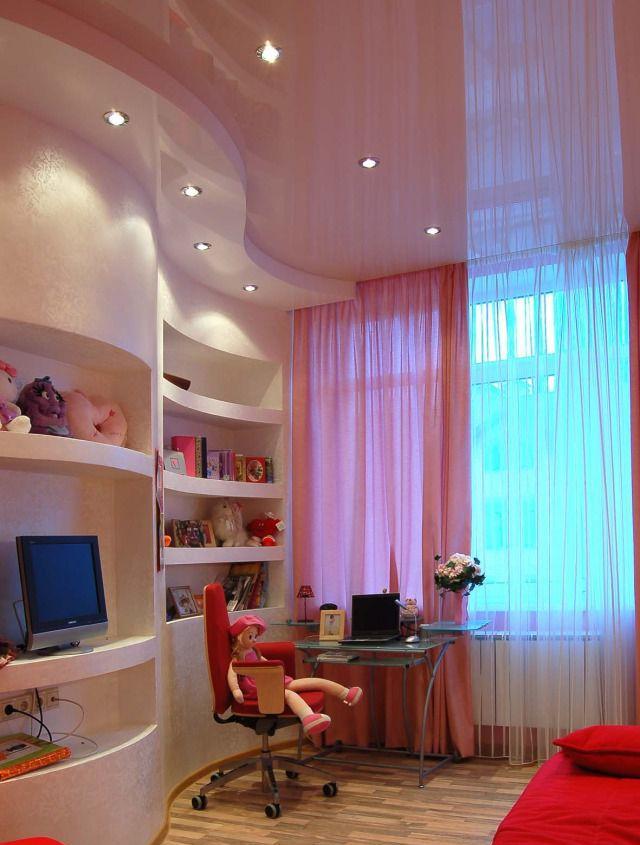 потолок в детской комнате для девочки