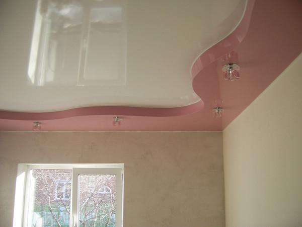 натяжной потолок для детской комнаты фото