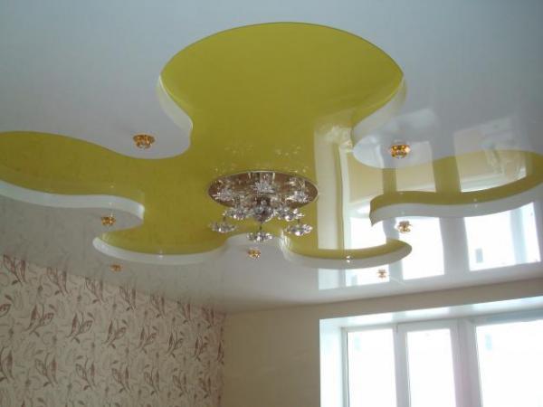 многоуровневый потолок для детской комнаты фото