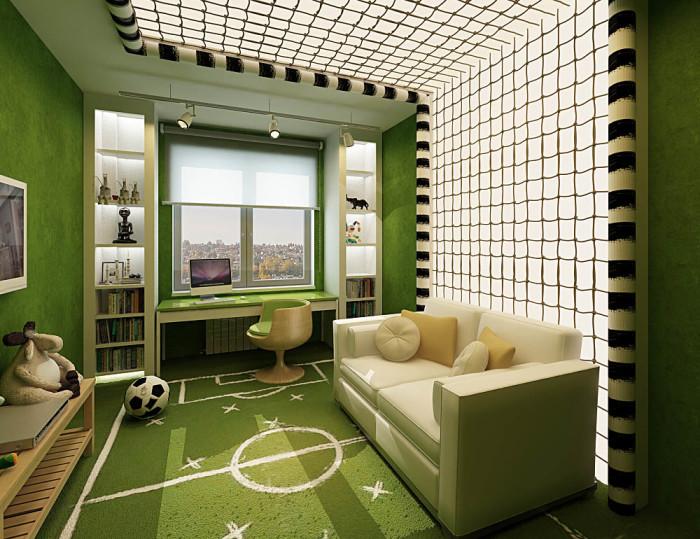 Дизайн проект комнаты для подростков