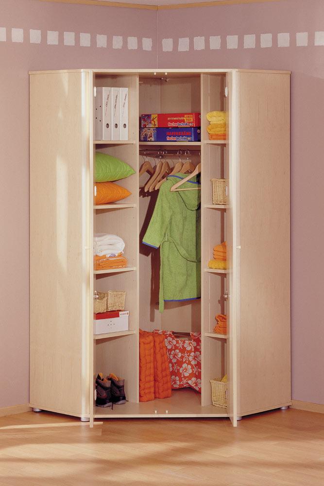 Угловой шкаф в детскую комнату для двоих детей интересное в .