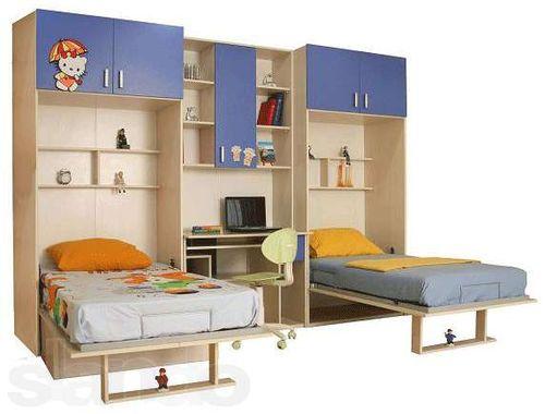 Какой должна быть мебель для детской комнаты для двоих ... Шифоньер Купе