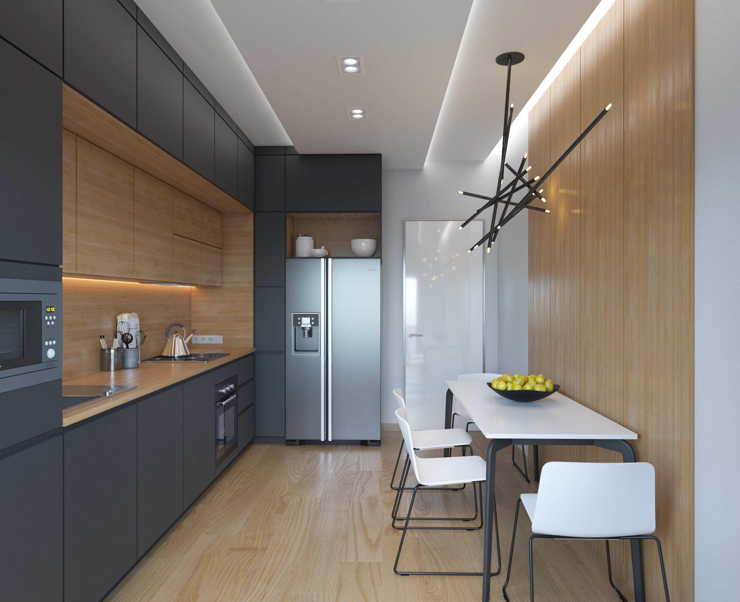 Кухня в потолок фото схема