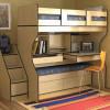 Кровать-чердак с рабочей зоной для подростка: идеи, фото