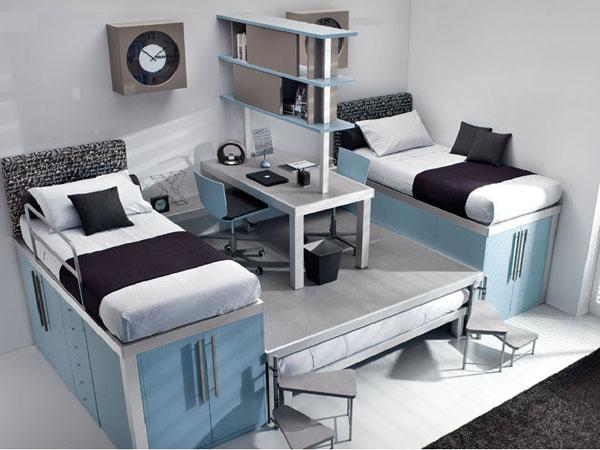 Дизайн комнаты для мальчиков-подростков на двоих