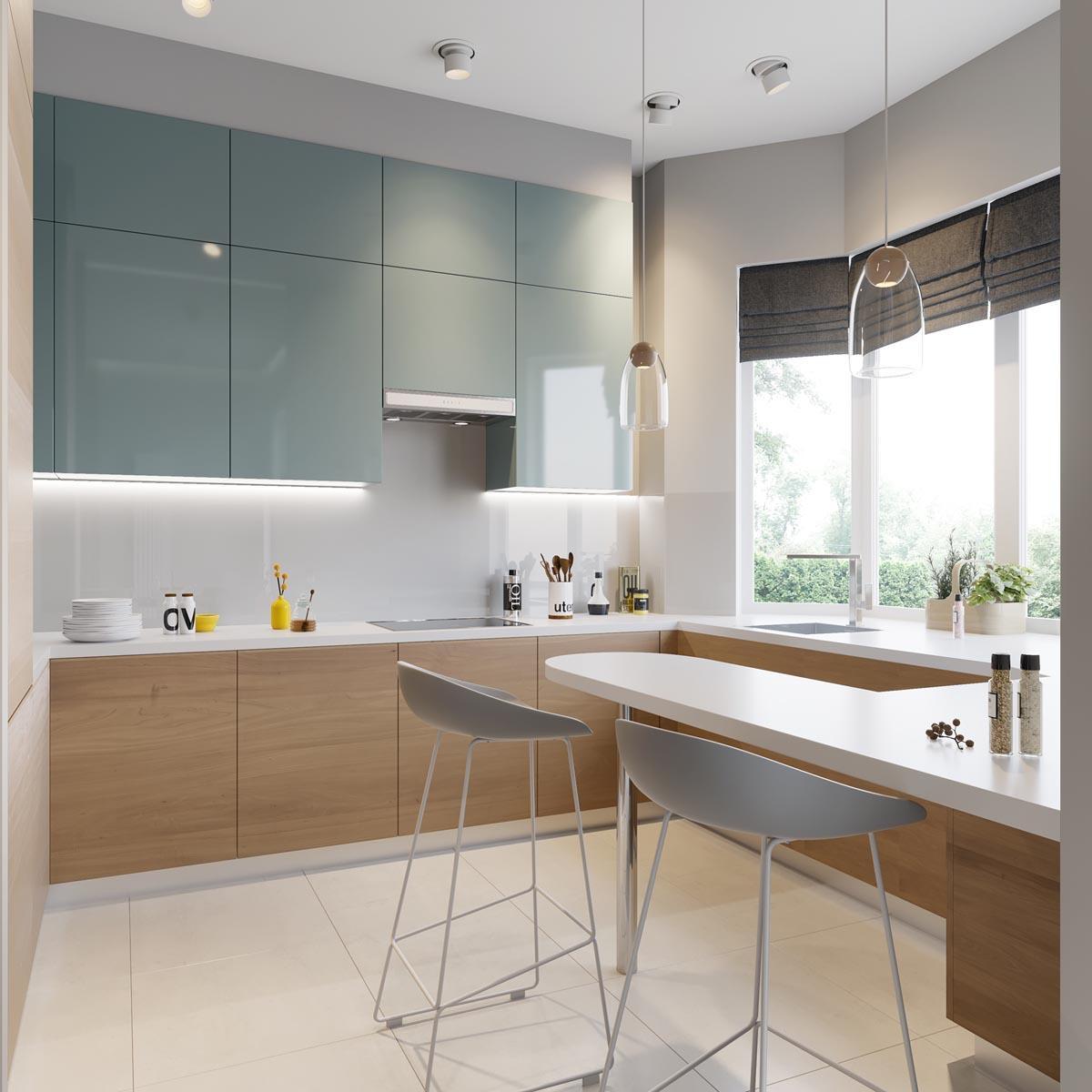 Кухня квартиры - студии