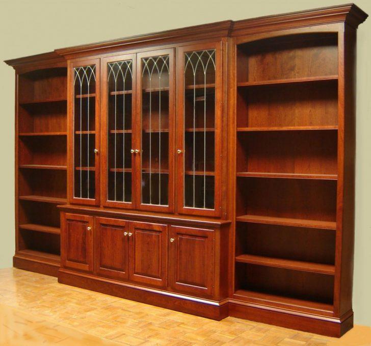 Комбинированный книжный шкаф - фото
