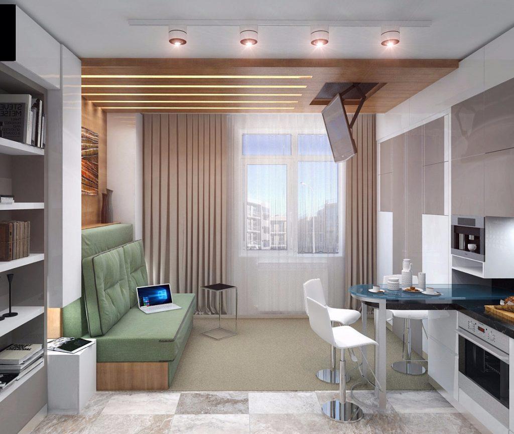 Компактный дизайн квартиры студии