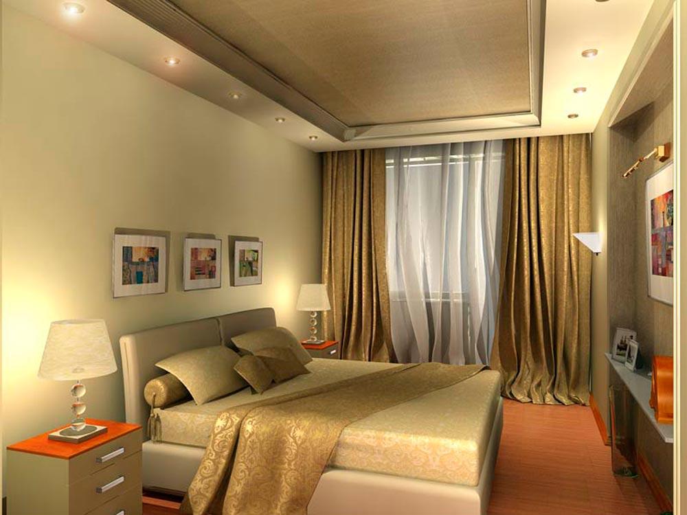 освещение узкой комнаты