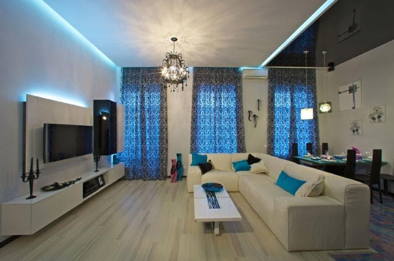 диван в качестве перегородки