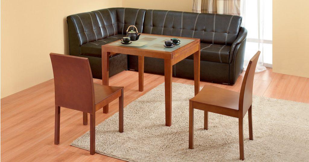 столик раздвижной со стеклом